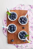Fresh blueberries. In small ceramic bowls Royalty Free Stock Photos