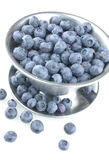 Fresh Blueberries Spilling Out Royalty Free Stock Images