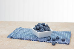 Fresh blueberries in square dish Royalty Free Stock Photo
