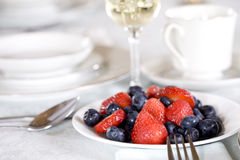 Fresh blueberries and strawberries Royalty Free Stock Image