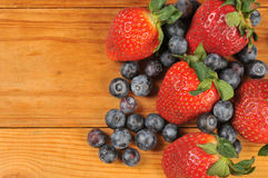 Fresh blueberries and strawberries Royalty Free Stock Photo
