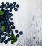Fresh blueberries on a table Stock Photos