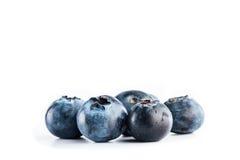 Fresh blueberries on white background. Fresh tasty blueberries on white background, nutrition and vitamins concept Stock Photography