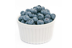 Fresh blueberries in white bowl Stock Photography