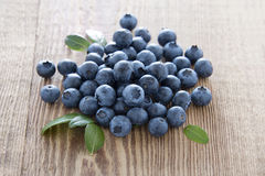Fresh blueberries on wood Royalty Free Stock Photo