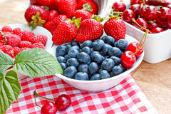 Fresh blueberry and another berry fruits Royalty Free Stock Photography