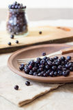Fresh blueberry fruits Royalty Free Stock Photography