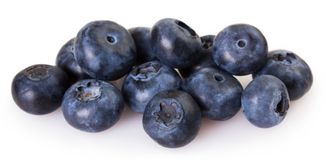 Fresh blueberry on white background royalty free stock images