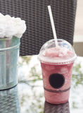 Fresh blueberry milkshake Royalty Free Stock Images
