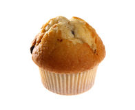 Fresh blueberry muffin. Isolated on white background with copy space Royalty Free Stock Images