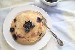 Fresh blueberry pancakes Royalty Free Stock Photography