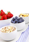 Fresh blueberry, strawberry corn flakes Stock Image
