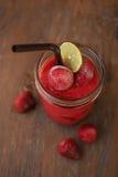Fresh Blueberry and Strawberry Smoothie. Fresh Blueberry and Strawberry Stock Photo