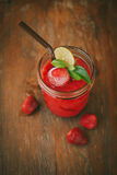 Fresh Blueberry and Strawberry Smoothie. On a background Royalty Free Stock Image