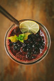 Fresh Blueberry and Strawberry Smoothie. On a background Stock Photos