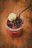 Fresh Blueberry and Strawberry Smoothie. On a background Royalty Free Stock Photo