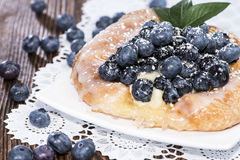 Fresh Blueberry Tart with fruits royalty free stock photography