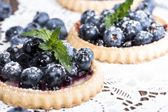 Fresh Blueberry Tart with fruits Royalty Free Stock Photo