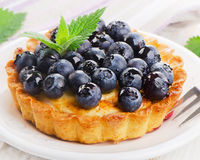 Fresh Blueberry tart Stock Image