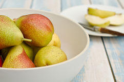 Fresh blush pears Stock Photo
