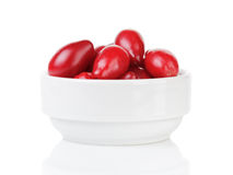 Fresh bogwood berries isolated on white Royalty Free Stock Image