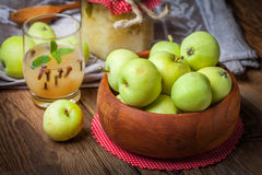 Fresh boiled compote. Royalty Free Stock Photography