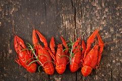 Fresh boiled crawfish Stock Photography