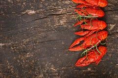 Fresh boiled crawfish Royalty Free Stock Images