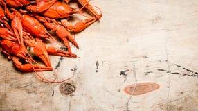 Fresh boiled crawfish. Royalty Free Stock Image