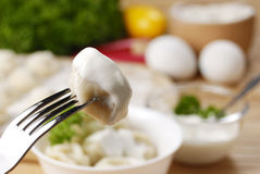 Fresh boiled meat dumplings Royalty Free Stock Photo