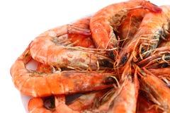 Fresh boiled shrimp Stock Photo