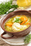 Soup. Fresh boiled soup with meatballs Royalty Free Stock Photo