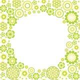 Fresh  border. Green flower summer fresh frame Stock Image