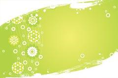 Fresh border. Green flower vector summer fresh background Stock Illustration