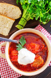 Fresh borscht Stock Photography