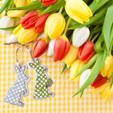 Fresh bouquet of tulips Stock Photography