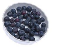 Fresh Bowl of Blueberries Royalty Free Stock Photo