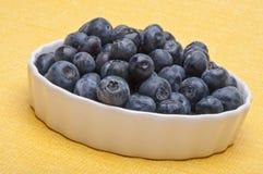 Fresh Bowl of Blueberries Royalty Free Stock Photos