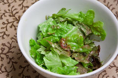 Fresh bowl of green salad Stock Photo
