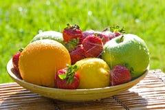 Fresh Bowl of Mixed Fruit Royalty Free Stock Image