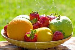 Fresh Bowl of Mixed Fruit Stock Photo