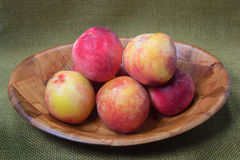 Fresh Bowl of Peaches Royalty Free Stock Image