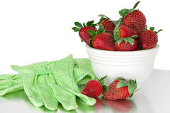 Fresh Bowl Of Strawberries Stock Images
