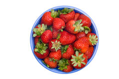 Fresh bowl of strawberries Stock Image