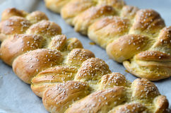 Fresh braided bread Stock Photo