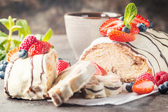 Fresh braided bread Stock Images
