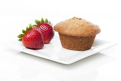 A fresh bran muffin Stock Images