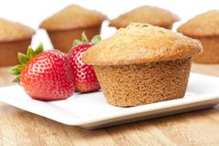 A fresh bran muffin Royalty Free Stock Photos