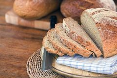 Fresh bread. Freshly baked bread - sliced ready to make some sandwiches Royalty Free Stock Photo