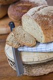 Fresh bread. Freshly baked bread - sliced ready to make some sandwiches - shallow dof Royalty Free Stock Photography
